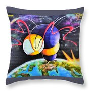 World Color Bee Throw Pillow