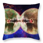 World Communications Throw Pillow