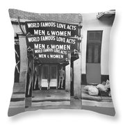 World Famous Love Acts French Quarter New Orleans Louisiana 1976-2012 Throw Pillow