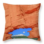 World-famous Pikes Peak Framed By What We Call The Keyhole  Throw Pillow