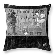 World Famous Sunken Gardens Throw Pillow