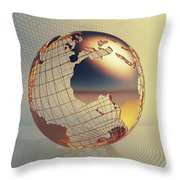World Global Business Background Throw Pillow