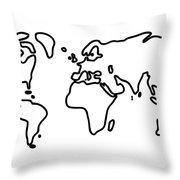 World Globe Throw Pillow