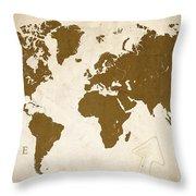 World Grunge Throw Pillow