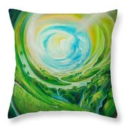 World In Movement Throw Pillow