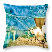 World In My Eyes Throw Pillow