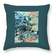 World In The Sea Throw Pillow