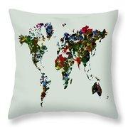 World Map 12b Throw Pillow