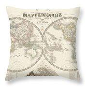 World Map - 1842 Throw Pillow