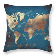 World Map 2065 Throw Pillow