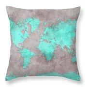 World Map 39 Throw Pillow