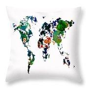 World Map 8b Throw Pillow