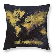 World Map Art 65 Throw Pillow