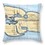 World Map: Eratosthenes Throw Pillow