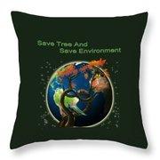 World Needs Tree Throw Pillow