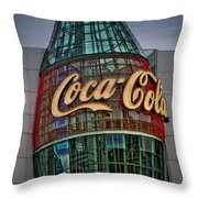 World Of Coca Cola Throw Pillow