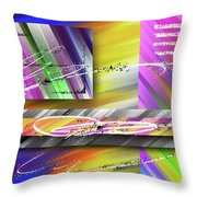 World Of Color And Superimposed Rectangles Throw Pillow