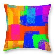 World Of Color Throw Pillow