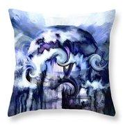 World Of Ice Throw Pillow