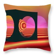 World Of The Dragonfly Throw Pillow