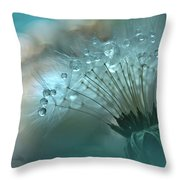 World Of The Drops... Throw Pillow