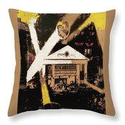 World Premiere Gone With The Wind Atlanta Georgia 1939-2008 Throw Pillow