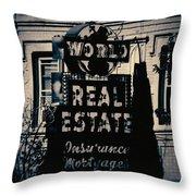 World Real Estate Chicago Throw Pillow