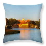 World Showcase Lagoon Before The Show Walt Disney World Throw Pillow