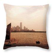 world Trade Center From Pier Throw Pillow
