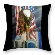 World Trade Towers Throw Pillow