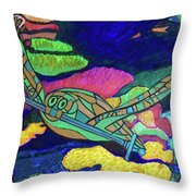 World Turle Knight Of Swords Throw Pillow