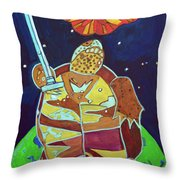 World Turtle King Of Swords Throw Pillow