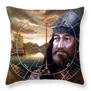 World Unification Gold Or Sea Captain Throw Pillow