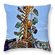 World Upside Down Throw Pillow