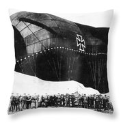 World War I: Airship Throw Pillow