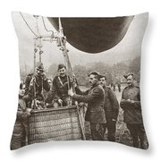 World War I: Balloon Throw Pillow
