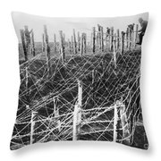 World War I Barbed Wire Throw Pillow