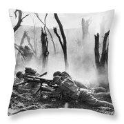 World War I: Battlefield Throw Pillow