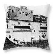 World War I British Tank. For Licensing Requests Visit Granger.com Throw Pillow by Granger