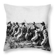 World War I: Camel Corps Throw Pillow