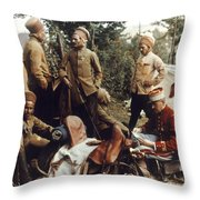 World War I: French Troops Throw Pillow