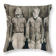 World War I: Gas Warfare Throw Pillow