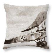 World War I: German Biplane Throw Pillow