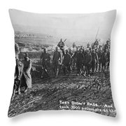 World War I: German Pows Throw Pillow