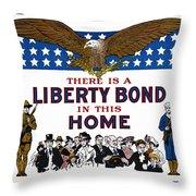 World War I Liberty Bond Ad Throw Pillow by Granger