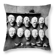 World War I Masks, 1918 - To License For Professional Use Visit Granger.com Throw Pillow