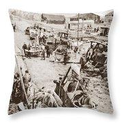 World War I: Plane Repair Throw Pillow