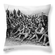 World War I: Prisoners Throw Pillow