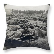 World War I: Russian Dead Throw Pillow