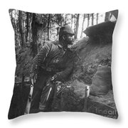 World War I: Soldier Throw Pillow